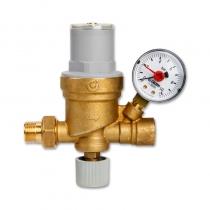 卡莱菲 CALEFFI 553640 可视调节型自动补水阀 带压力表 G1/2接口(4分管螺纹)调压范围0.2~4bar