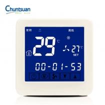 春泉 Chuntsuan 云温控器 CWK201 风机盘管温控器 WIFI温控器 可手机操控 适用于2管制系统 3速风机 220VAC 具有温限和时段设置功能 云诊断功能