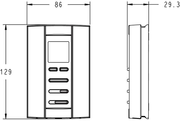 霍尼韦尔 Honeywell T6812DP08 风机盘管温控器 3速风机/手动冷热切换/适用2管制系统_风机盘管温控器_温控器及开关_暖通自动控制(BAS)_安易买商城-暖通空调工程行业全系统服务商城